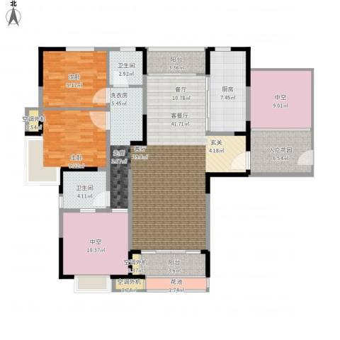 新乡星海传说2室1厅2卫1厨157.00㎡户型图
