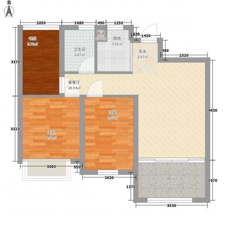 文一名都83.00㎡高层5户型3室2厅1卫1厨