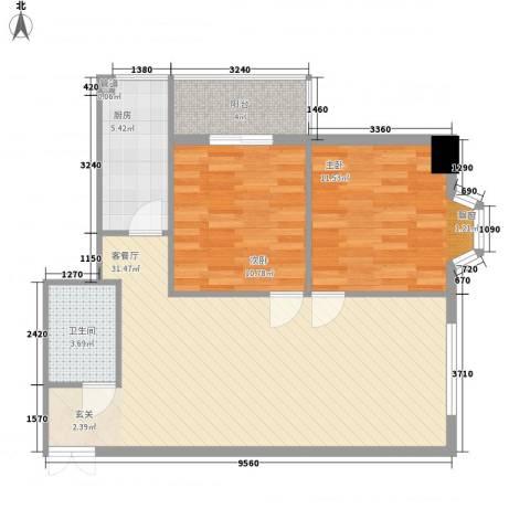 柳南商贸中心2室1厅1卫1厨92.00㎡户型图