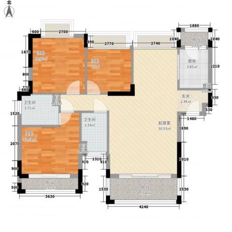 雍景豪园3室0厅2卫1厨112.00㎡户型图