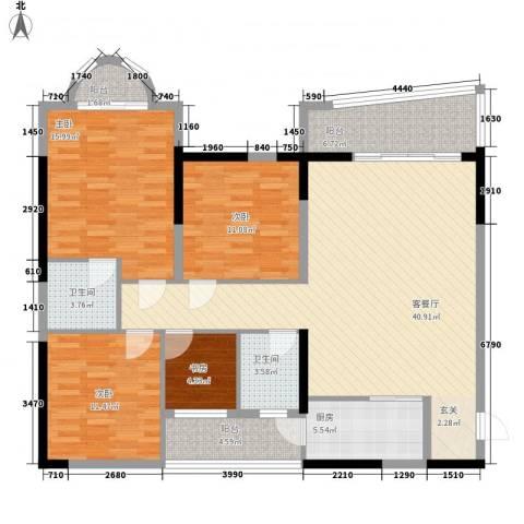 铁湖书院4室1厅2卫1厨152.00㎡户型图