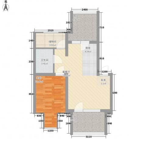 薄荷花苑二期红域明珠1室1厅1卫0厨73.00㎡户型图