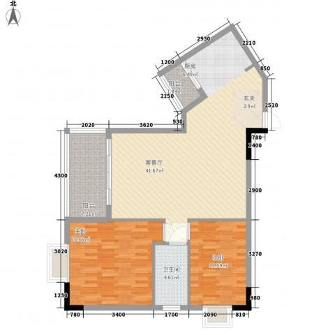 华宇大厦2室1厅1卫0厨104.00㎡户型图