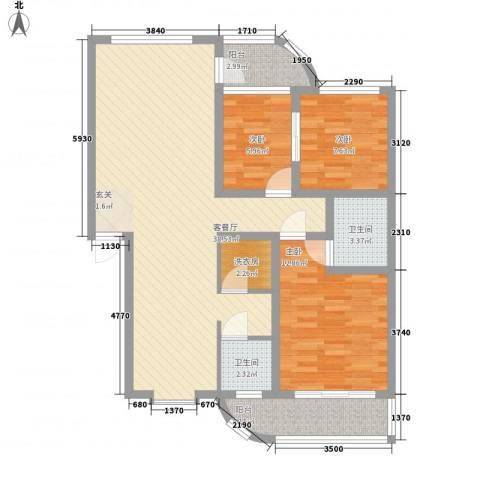 芙蓉苑3室1厅2卫0厨118.00㎡户型图