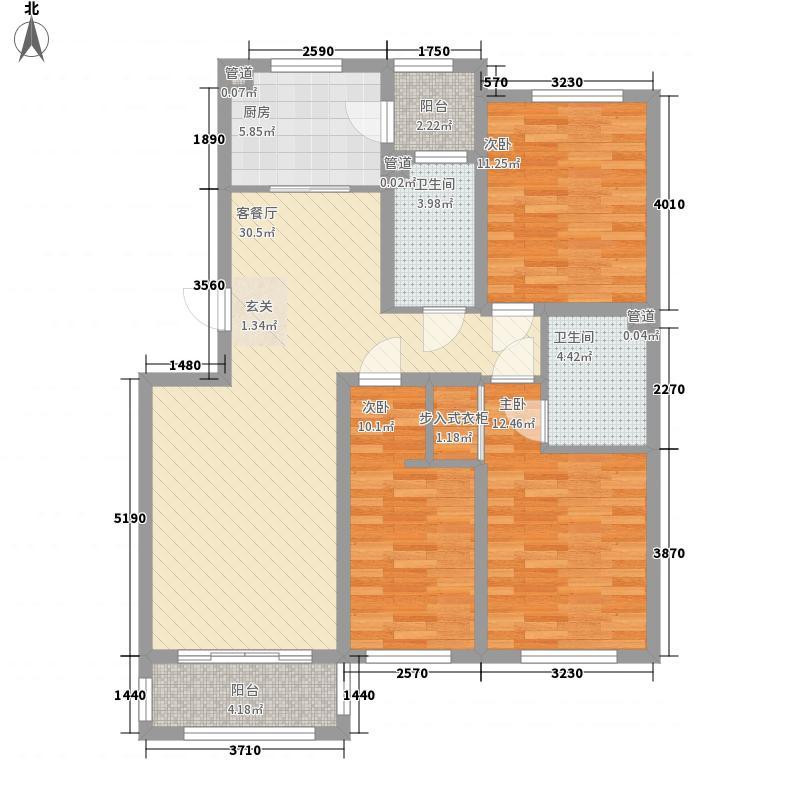 即发金色华山125.30㎡76#、100#E户型3室2厅2卫