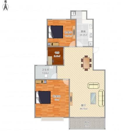 凯迪华光公寓1室1厅1卫1厨144.00㎡户型图