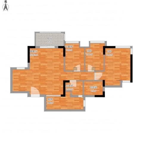 华凯豪庭3室1厅2卫1厨115.00㎡户型图
