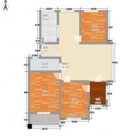 缇香美地4室1厅1卫1厨135.00㎡户型图