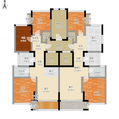 ART蓝海5室1厅2卫2厨254.00㎡户型图