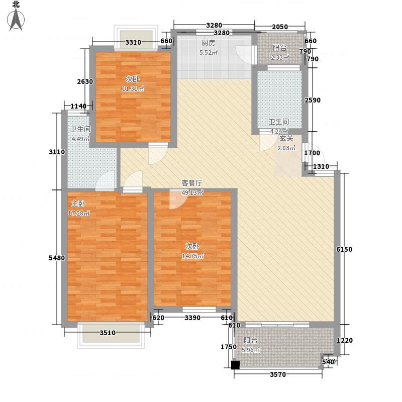 鸿达尚城时代[5)KB_6B6DOHHPY5]WRF207户型3室