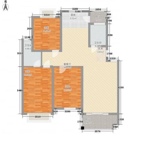 鸿达尚城时代3室1厅2卫0厨154.00㎡户型图