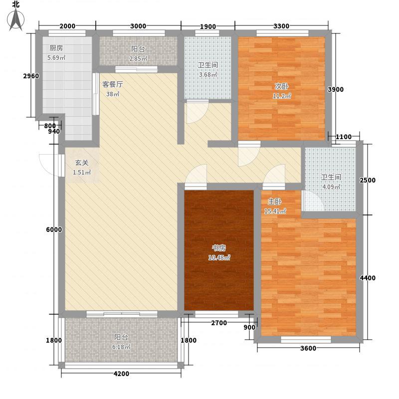 金泰金雀新城143.00㎡3、4号楼东单元西户和西单元东户I3户型3室2厅2卫1厨