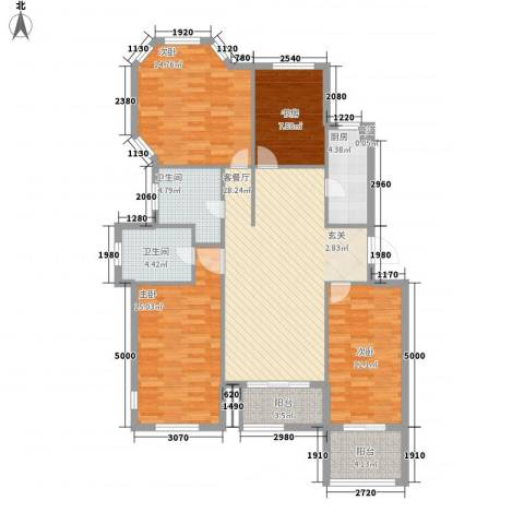 星科印象4室1厅2卫1厨99.28㎡户型图