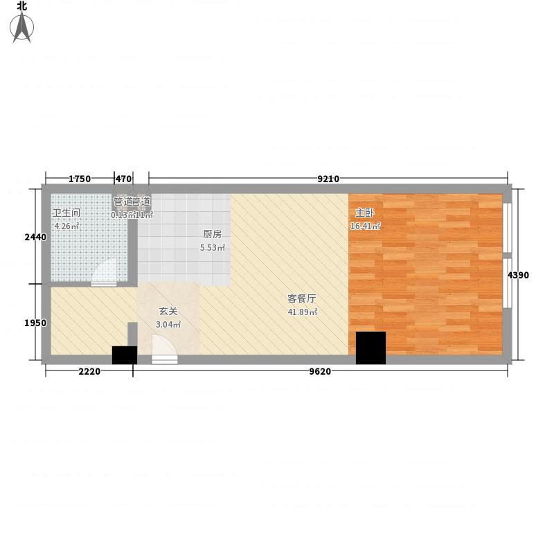 蓝拓新世纪大厦65.00㎡C户型1室1厅1卫1厨