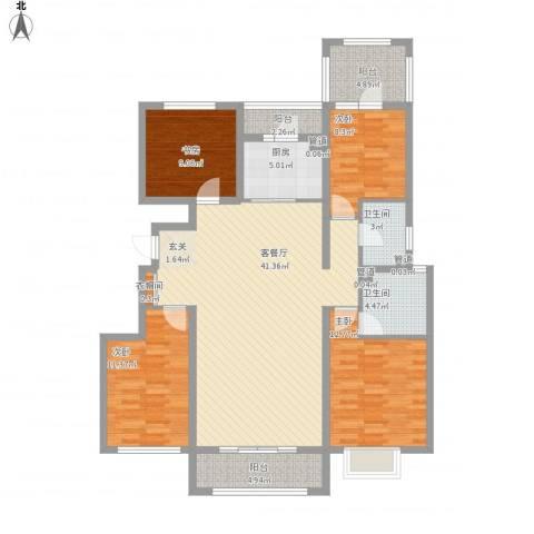 富立秦皇半岛4室1厅2卫1厨155.00㎡户型图