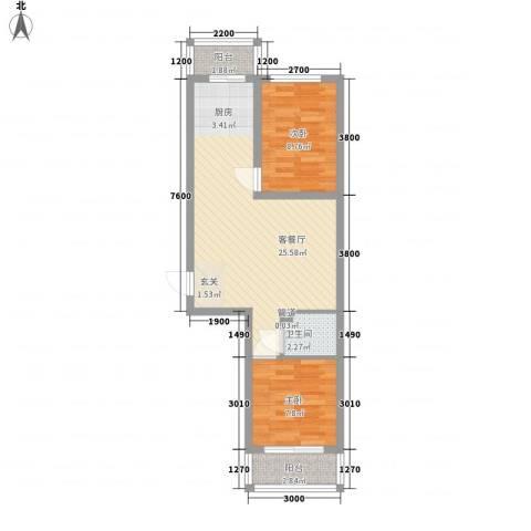 民生家园2室1厅1卫0厨49.17㎡户型图