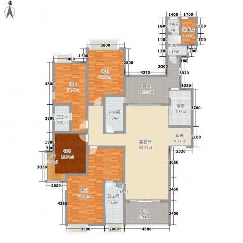 龙泉华苑4室2厅4卫1厨240.00㎡户型图