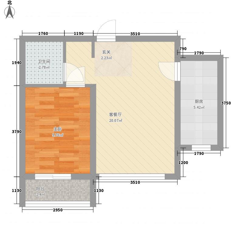 银河领域3#楼一居户型
