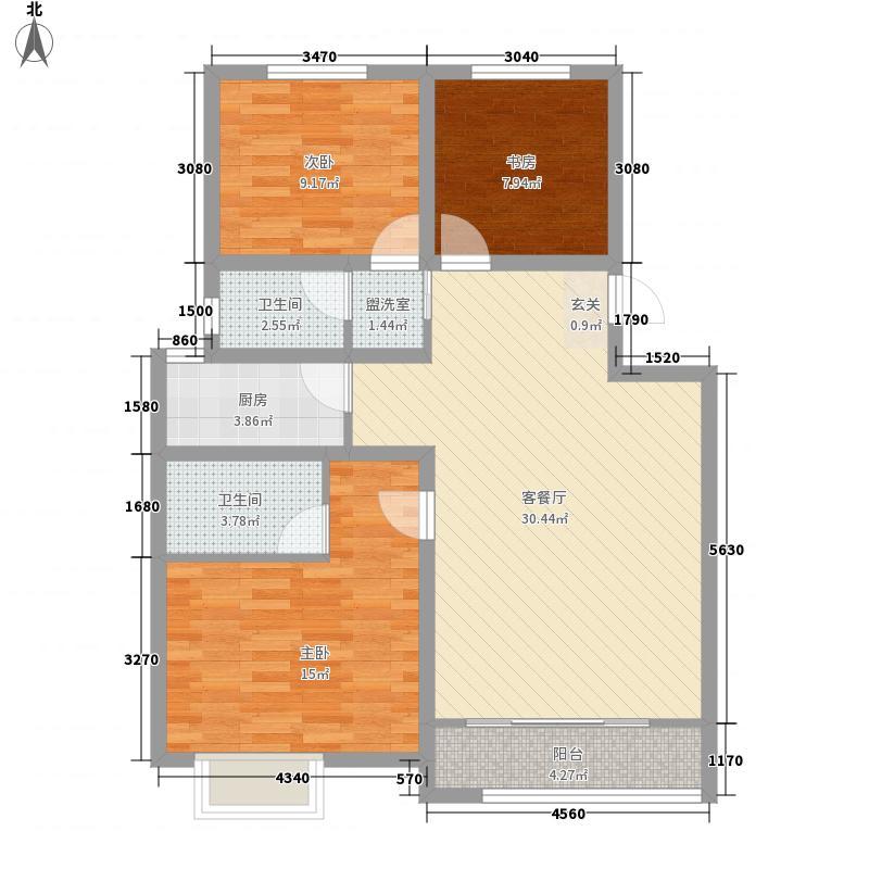春秋华庭115.00㎡C户型3室2厅2卫1厨