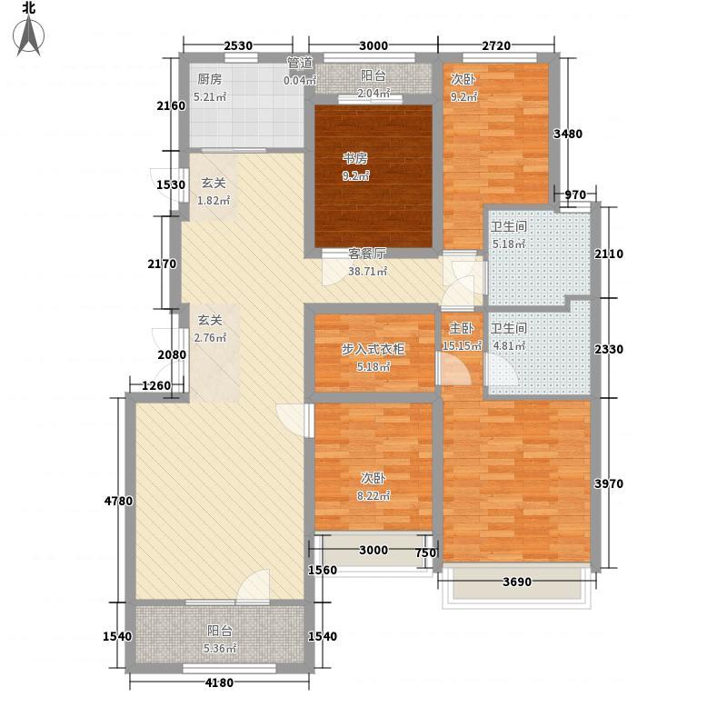 永定河孔雀城英国宫127.00㎡维多利亚花园V16户型3室2厅2卫1厨