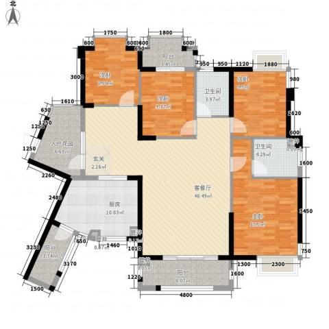 天湖大厦4室1厅2卫1厨175.00㎡户型图