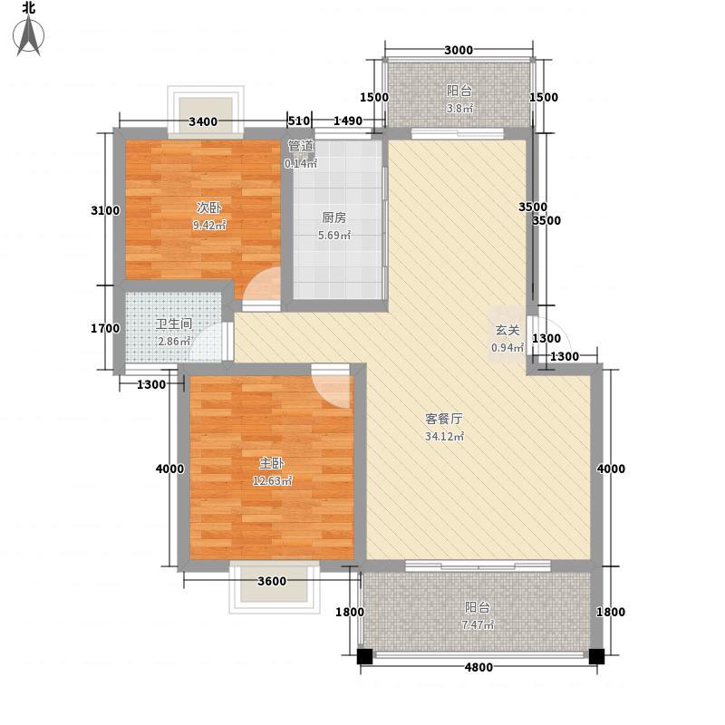 富华楼西区户型2室