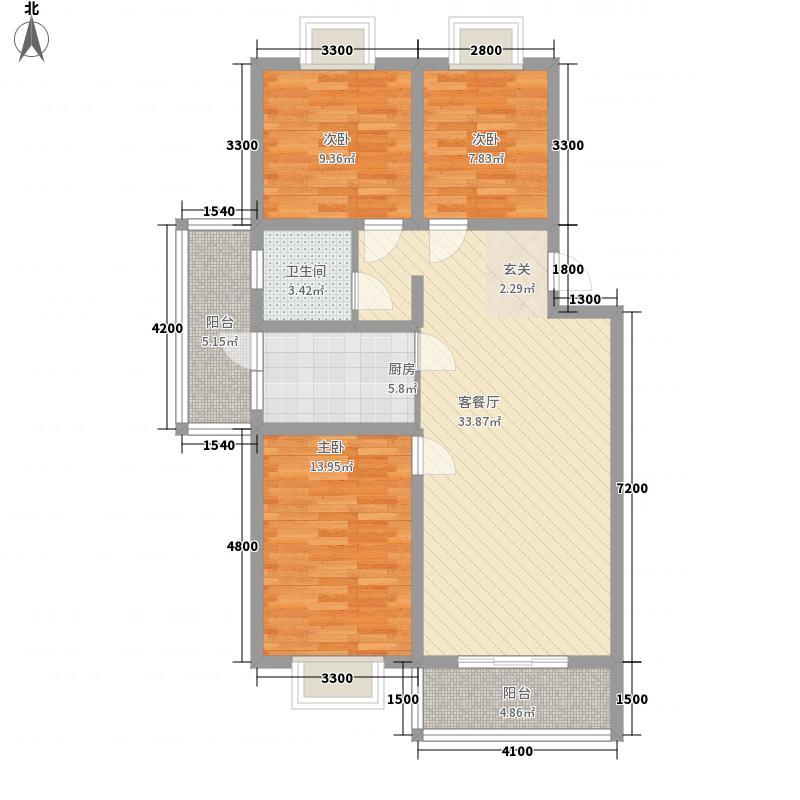 滹沱锦绣小区户型3室
