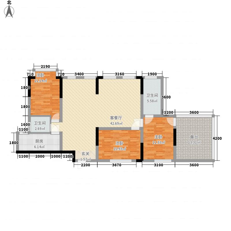 莲坂西小区2376292_ee38户型3室2厅2卫1厨