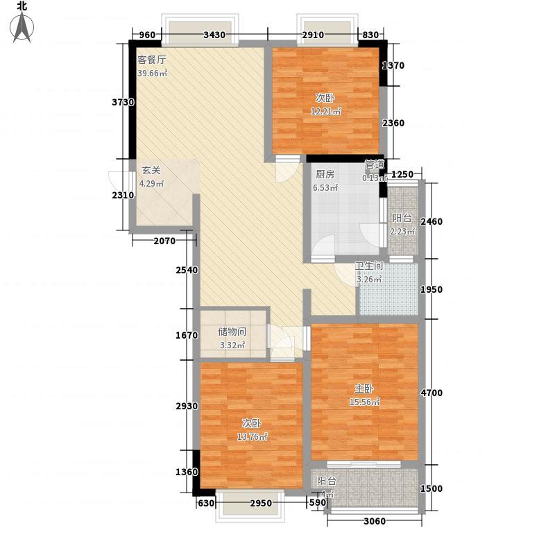 前洲商贸财富中心11.00㎡C户型3室2厅1卫