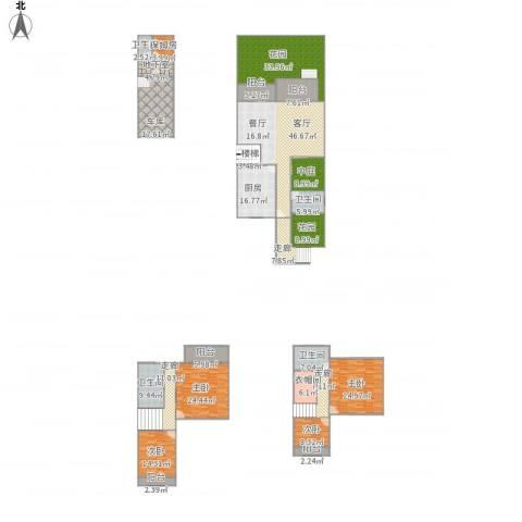 星岛仁恒4室1厅4卫1厨395.00㎡户型图