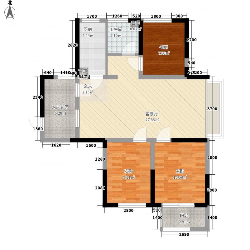 五福园18.00㎡C户型3室2厅1卫1厨