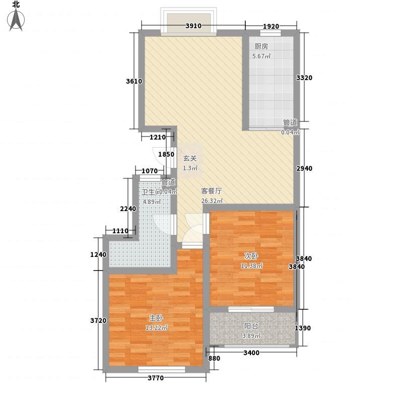 东兴寓城花园东兴寓城花园户型图4-B户型(已售完)2室2厅1卫户型2室2厅1卫