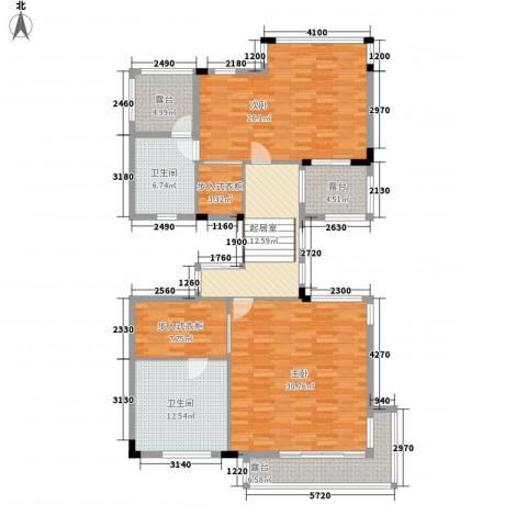 容谷别墅2室0厅2卫0厨163.00㎡户型图