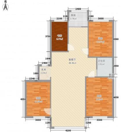 恩德花园4室1厅1卫1厨124.00㎡户型图