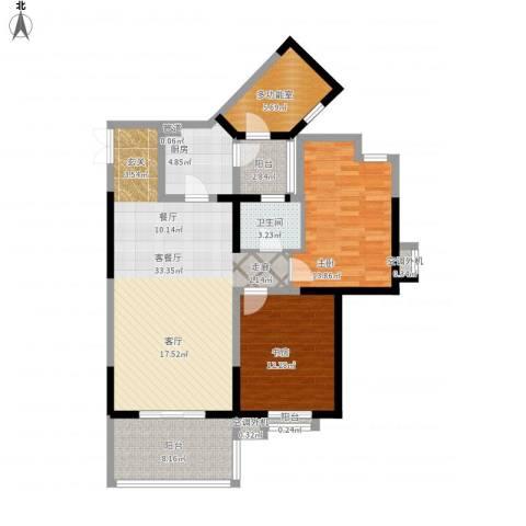 巴国公馆2室1厅1卫1厨124.00㎡户型图