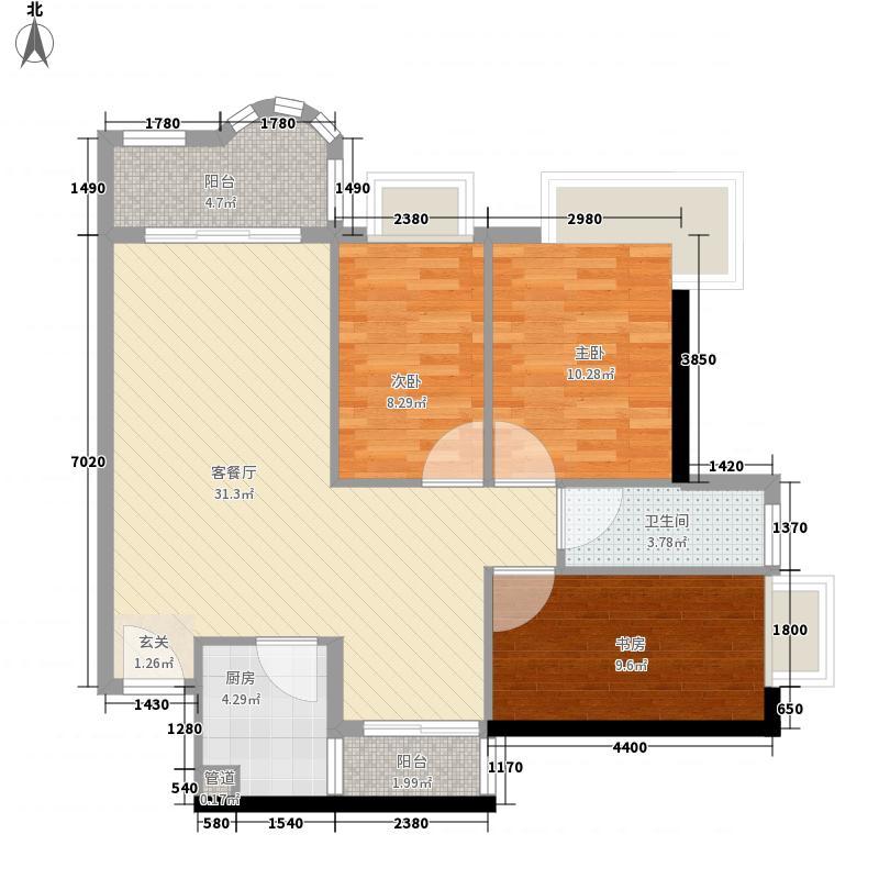 长裕翰林轩105.77㎡长裕翰林轩3室户型3室