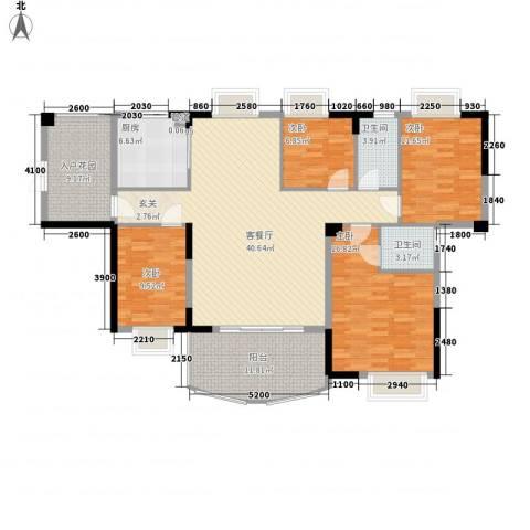 森邻美域4室1厅2卫1厨134.32㎡户型图