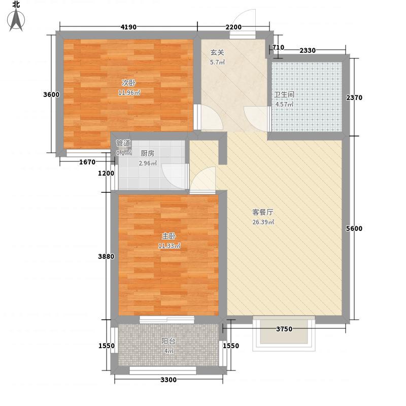 汉景苑户型2室