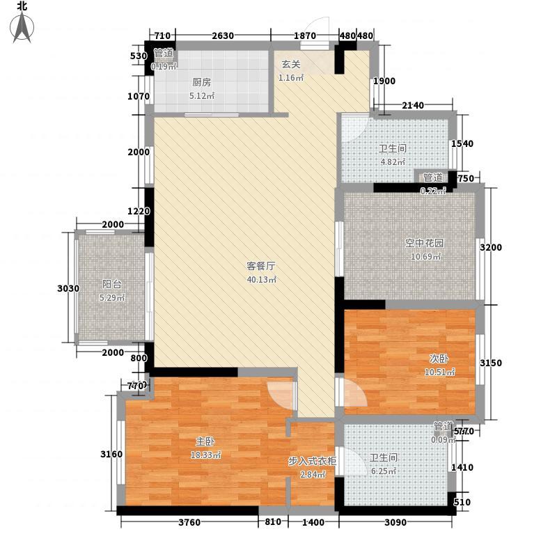 天泽一方户型2室2厅