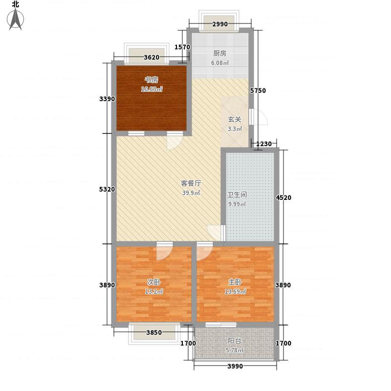 奎文区政府宿舍11.00㎡户型3室