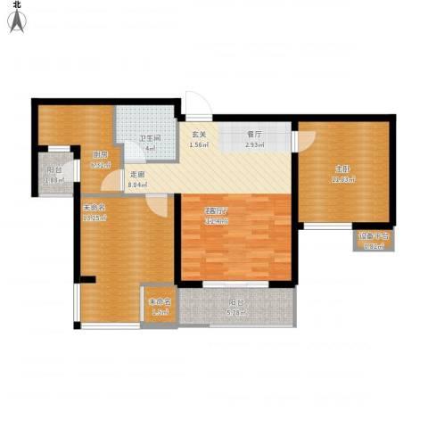 天房翠海红山1室1厅1卫1厨100.00㎡户型图