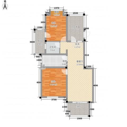 纺织路2室1厅1卫1厨115.00㎡户型图
