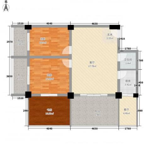 金基泰和苑3室2厅1卫1厨105.70㎡户型图