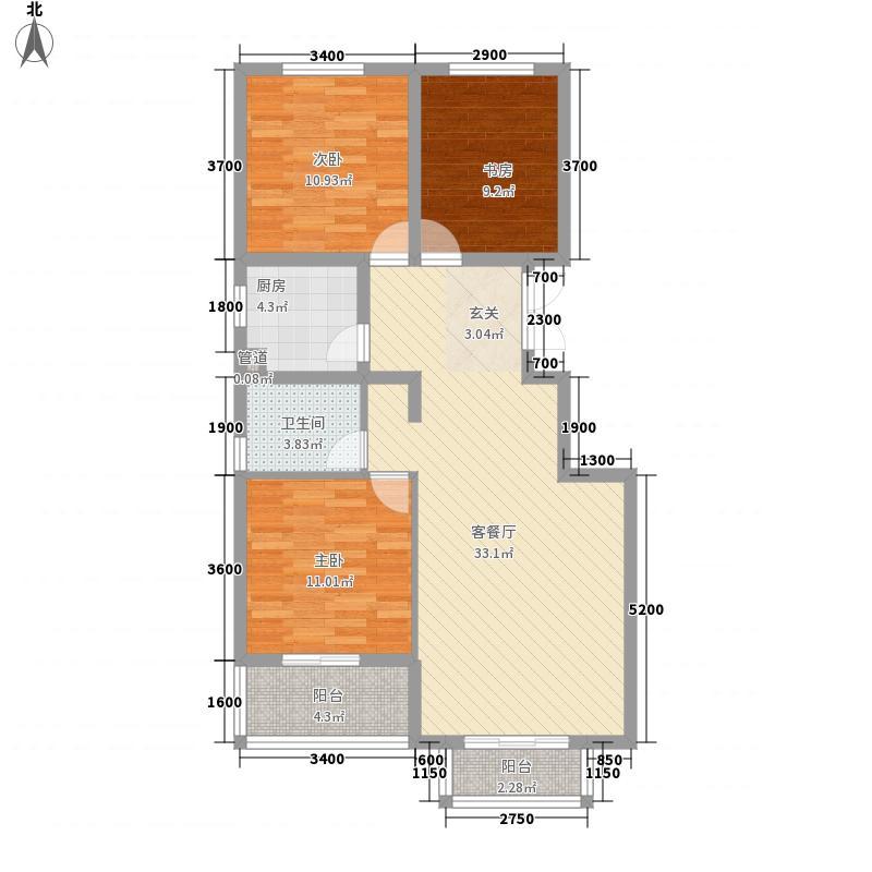 名人国际公寓1299655148647_000户型3室2厅1卫1厨