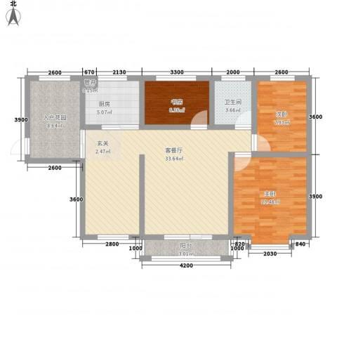 佳弘・中央公馆3室1厅1卫1厨81.93㎡户型图