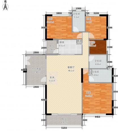 奥园海景城4室1厅3卫1厨177.00㎡户型图