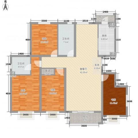 兰馨花园项目4室1厅2卫1厨168.00㎡户型图