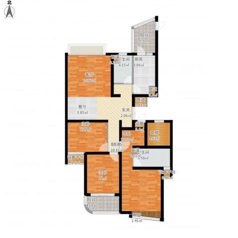 绍兴天下3室1厅2卫1厨161.00㎡户型图