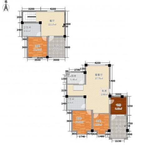 佳弘・中央公馆4室2厅2卫1厨139.12㎡户型图