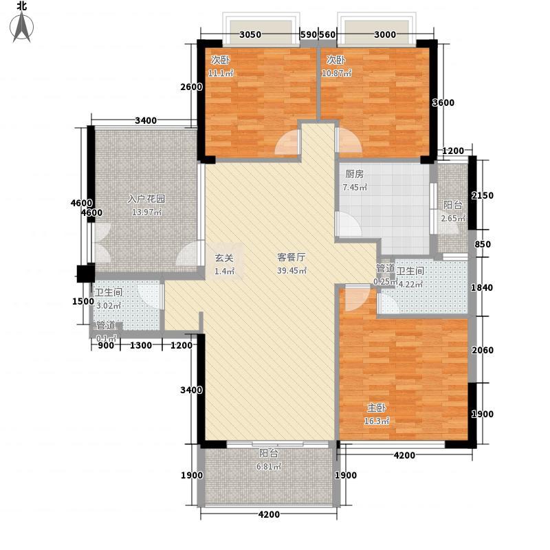 奥园海景城135.00㎡B1栋01、B2栋03户型3室2厅2卫1厨